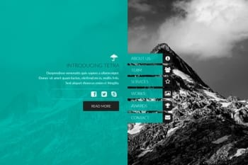 Tetra - Adobe Muse Template