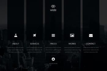 Wide Adobe Muse Template
