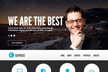 Calpules Adobe Muse Template