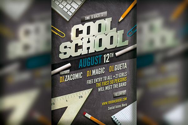 Cool School Flyer template