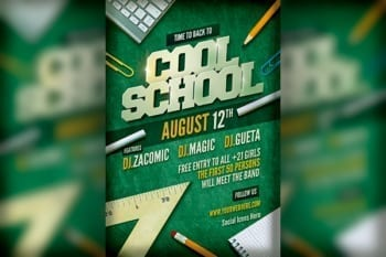 Cool School Flyer template