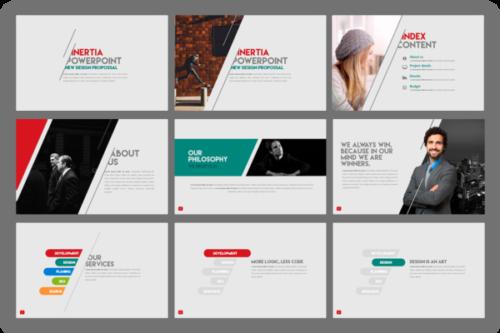 Inertia Presentation template