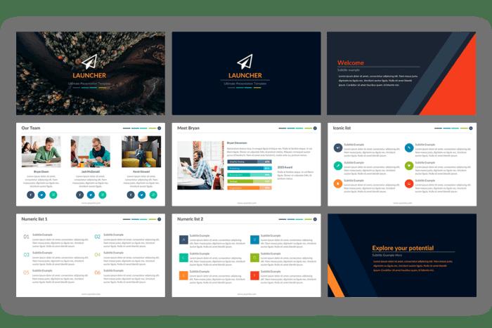 Launcher Presentation template