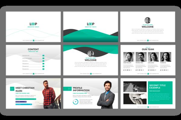 Loop Presentation template