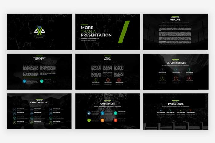 Axa Presentation Template