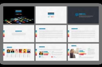 Social Counter presentation template