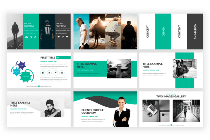 Loop Presentation template