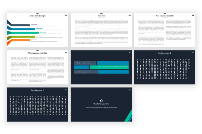 Master Pitch Presentation template