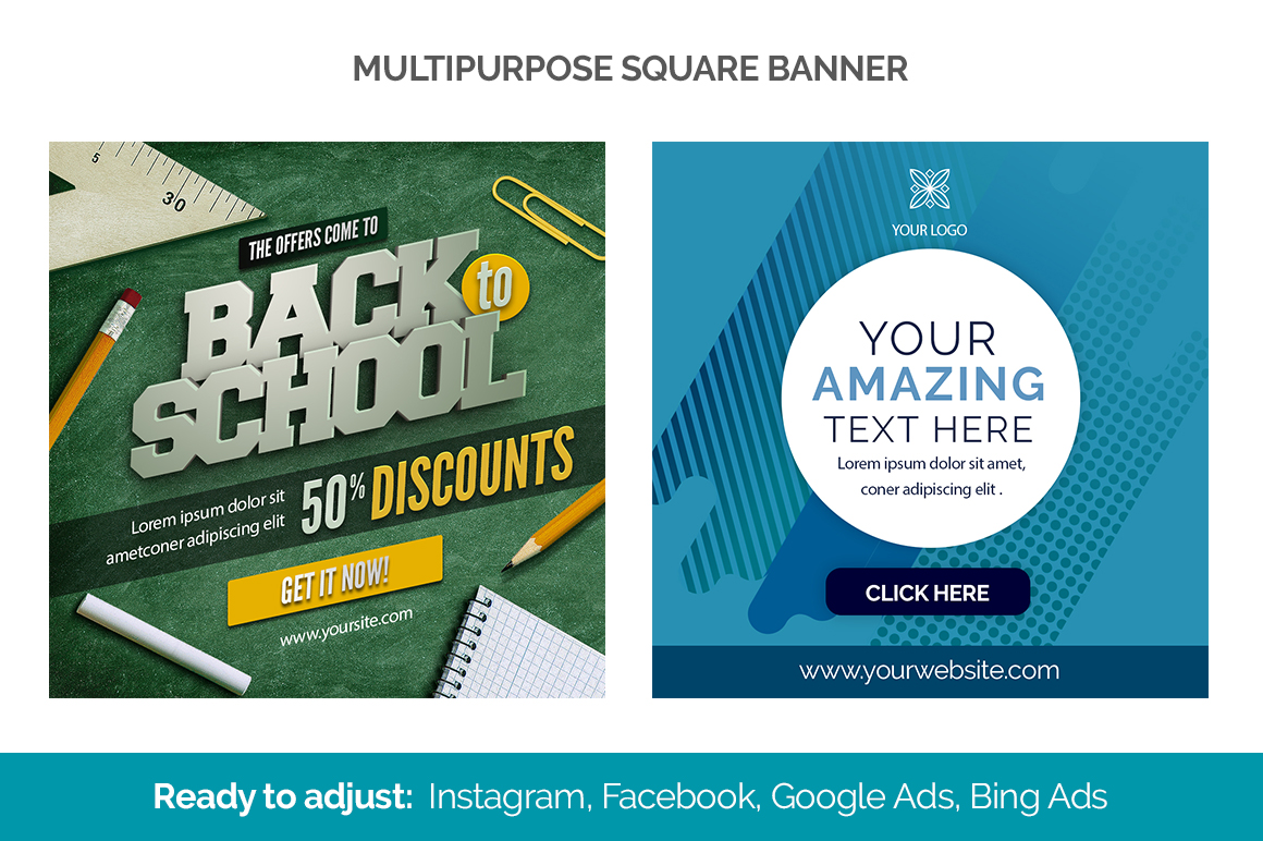 30 Square Banners