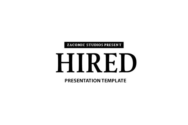 Hierd Presentation template