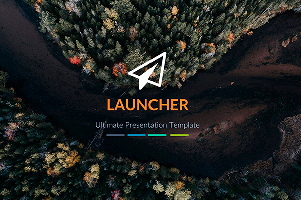 Launcher Presentation template