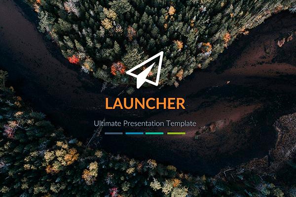 Launcher Powerpoint presentation template