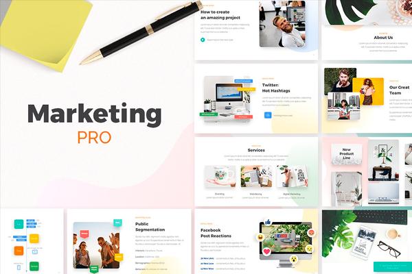 marketing pro powerpoint presentation template by zacomic studios