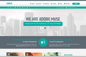 Oneon Adobe Muse Template