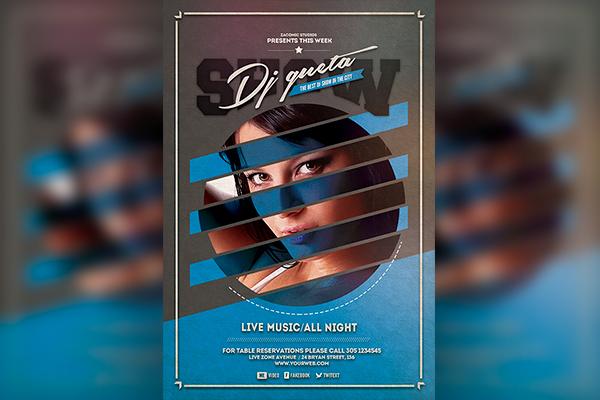 Dj Show Flyer template