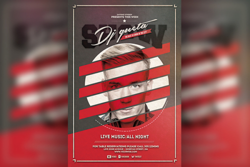 Dj Show Flyer template