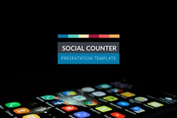 Social Counter Powerpoint presentation template