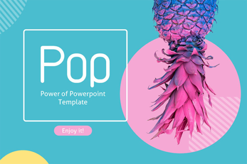 Pop Powerpoint Presentation is a Colorful presentation