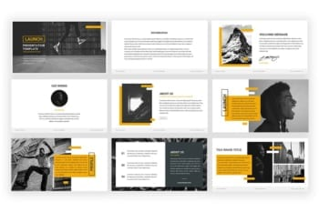 Launch Presentation Template Slides Preview