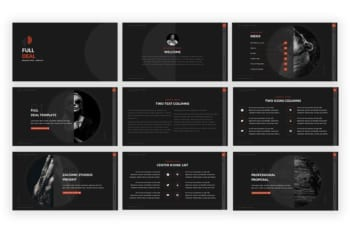 Professional Presentation Template Slides Preview