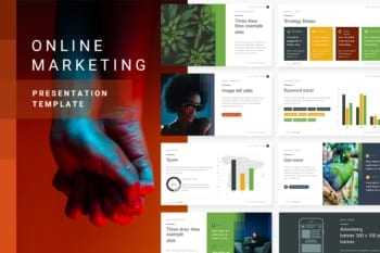 Online Marketing Powerpoint Presentation Template