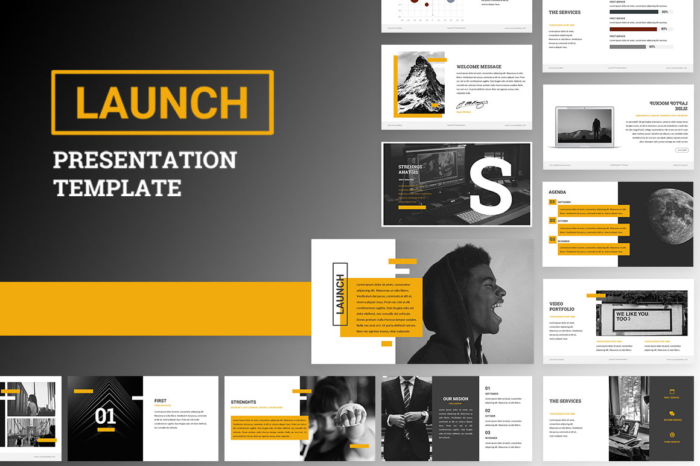 Launch Powerpoint Presentation Template