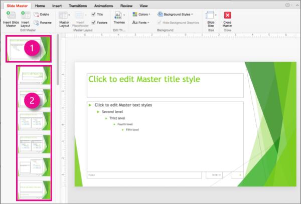 Slides Master Structure