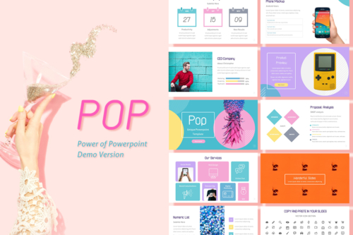 Pop Color Free Powerpoint Presentation Template