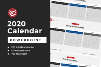 Powerpoint 2020 Calendar