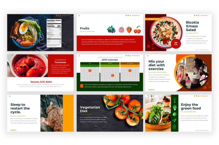 Nutrition Presentation template -1